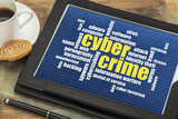 cybercrime word cloud poster