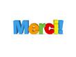 """Message """"MERCI"""" (carte remerciements gratitude plaisir amitié)"""