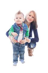 Kleinkind mit Mutter