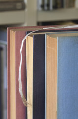 old books, close up, selective focus, free copy space