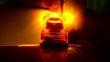 Flashing beacon. Orange flashing and revolving light