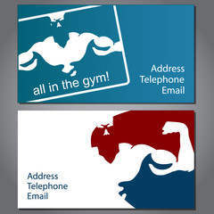 Business card for gym