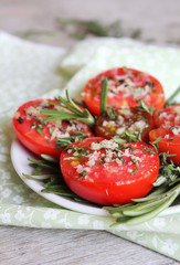 Roasted roma tomatoes with provencal herbs