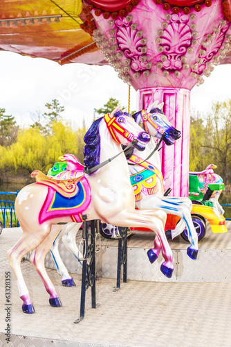 children's carousel in the park