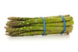 Green Asparagus bundle isolated