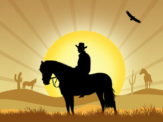 illustration of cowboy