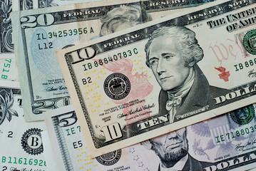 US. dollar bills.
