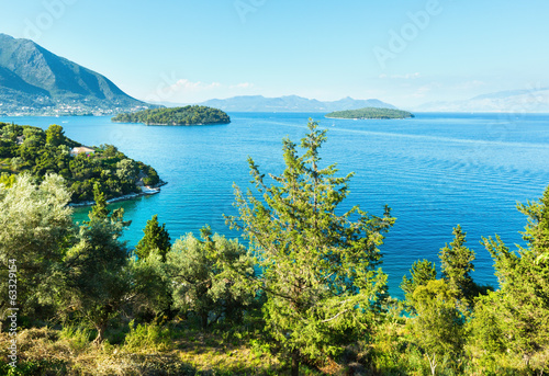 Lefkada coast summer landscape (Greece)