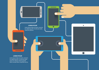 Flat design vector illustration concept for mobile apps