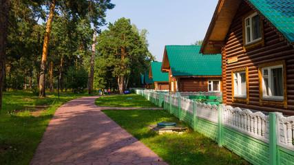 улица с деревянными домами в деревне
