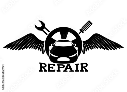 Vector sign. Car repair.