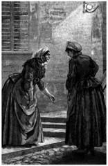 2 Peasants Talking - Commères - 19th century