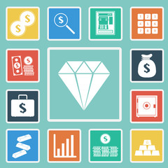 Vector of Finance and money icon