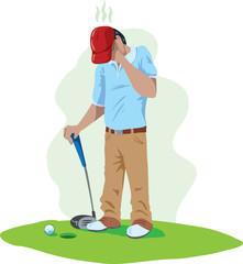 Sad golfer