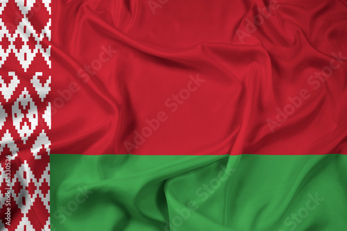 Waving Belarus Flag