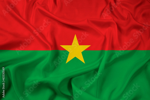 Waving Burkina Faso Flag