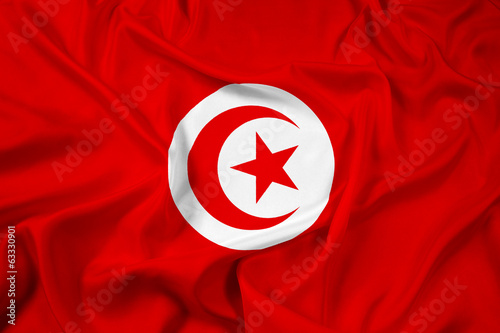 Waving Tunisia Flag
