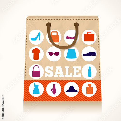 Shopping clothing bag design