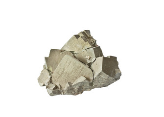 pyrite (like gold) on white background
