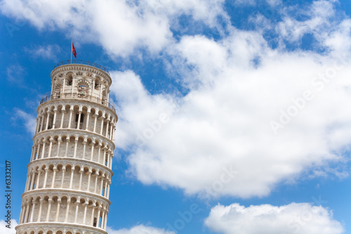 Pisa leaning tower and sky