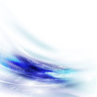 Abstract futuristic flow background for technology