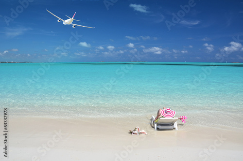 Beach scene. Great Exuma, Bahamas