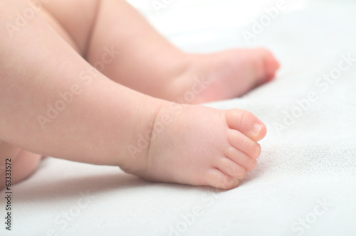 Foots of newborn baby