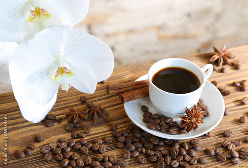 Black coffee with cinnamon|63333767