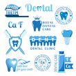 Set of dental decorative elements