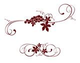 Vintage design element -- grape - 63333908
