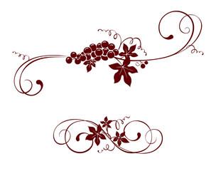 Vintage design element -- grape