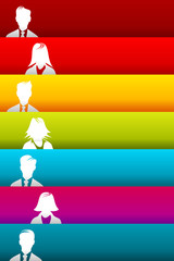 Horizontal parallel stripes people group avatar