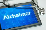 Tablet mit der Diagnose Alzheimer auf dem Display