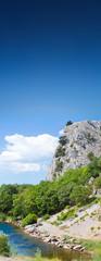 Forest and lake. Crimea landscape.