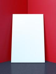frame in corner of red interior