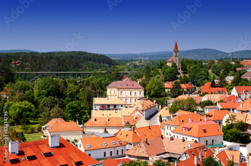 Panoramic wiev to Veszprem, Hungary