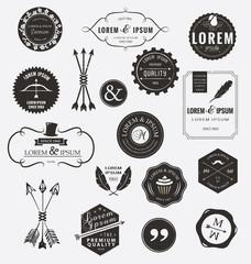 Vintage design elements. Retro style.