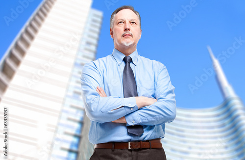 Senior businessman outdoor