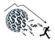 Financial Bubble with sudden drop in prices