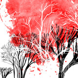 Fototapety Abstract silhouette of trees