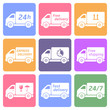 delivery and shipping vector icons