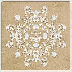 Vector Card with retro flower