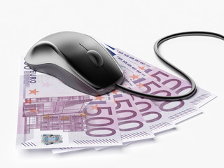 Mouse with euro bills