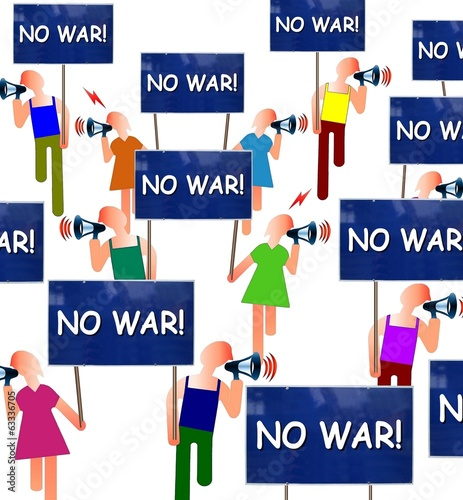 "Manif ""No war!"""