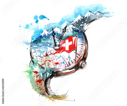 Fototapeta Switzerland