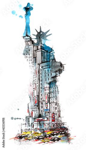 Leinwanddruck Bild USA