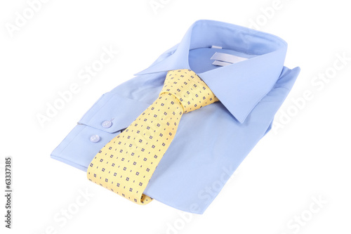 Necktie on a shirt