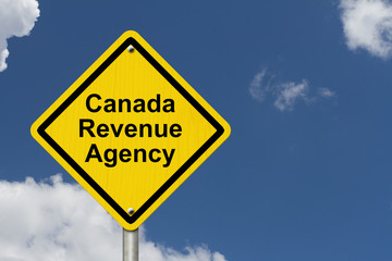 Canada Revenue Agency Warning Sign