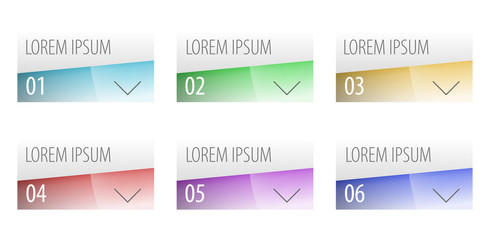 Modern label style options design