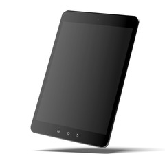 Modern black tablet pc